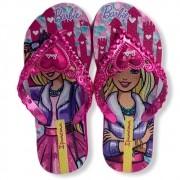 Chinelo Infantil Ipanema Barbie 26459 Rosa Metalizado