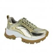 Tênis Feminino Dad Sneaker Tanara T4201 Tratorado