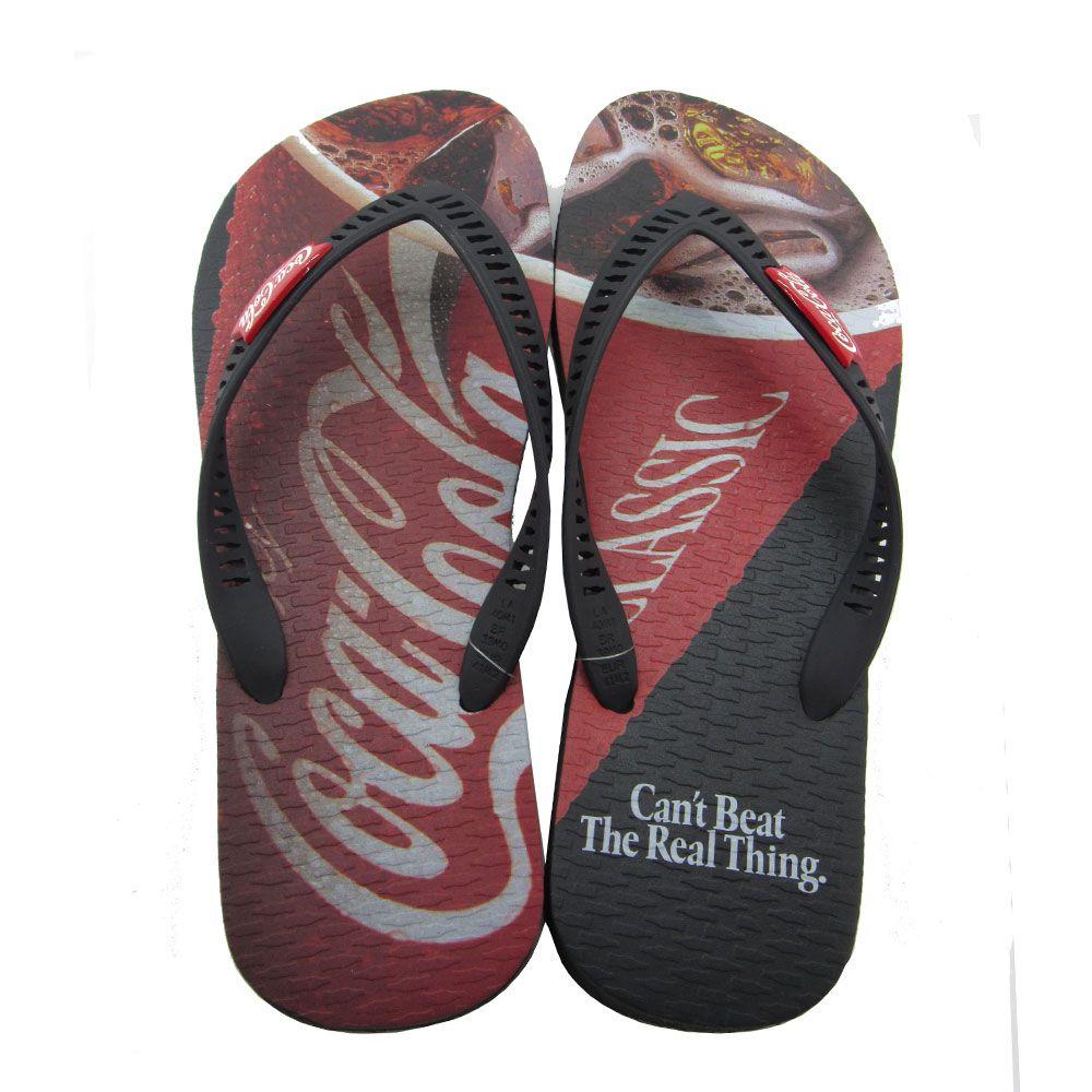 Chinelo Masculino Coca-Cola Glass CC2771 - Preto/Vermelho