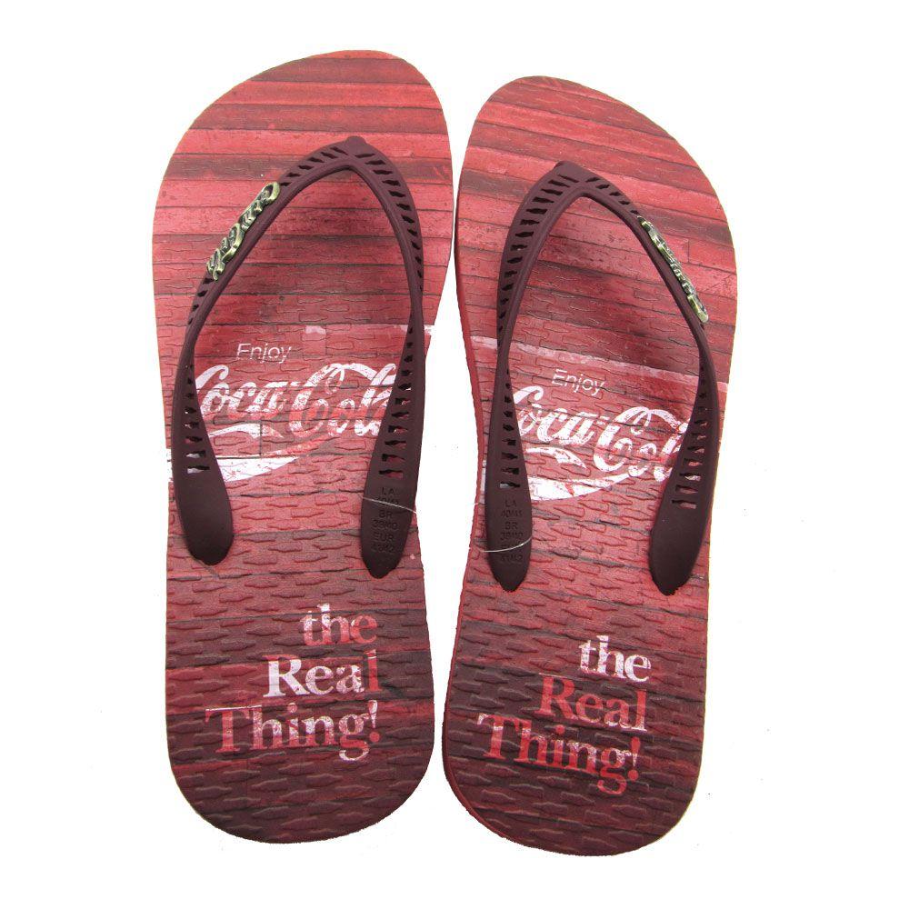 Chinelo Masculino Coca-Cola Vintage Floor CC2761 - Vermelho