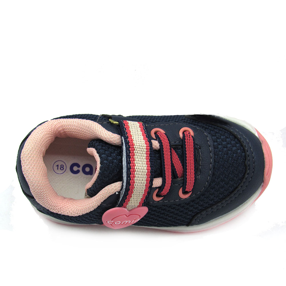 Tênis Infantil Jogging Feminino Camin 1111 Preto