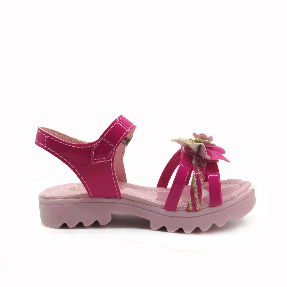 Sandália Infantil Feminina Flat Blim Blim 2548L  Pink