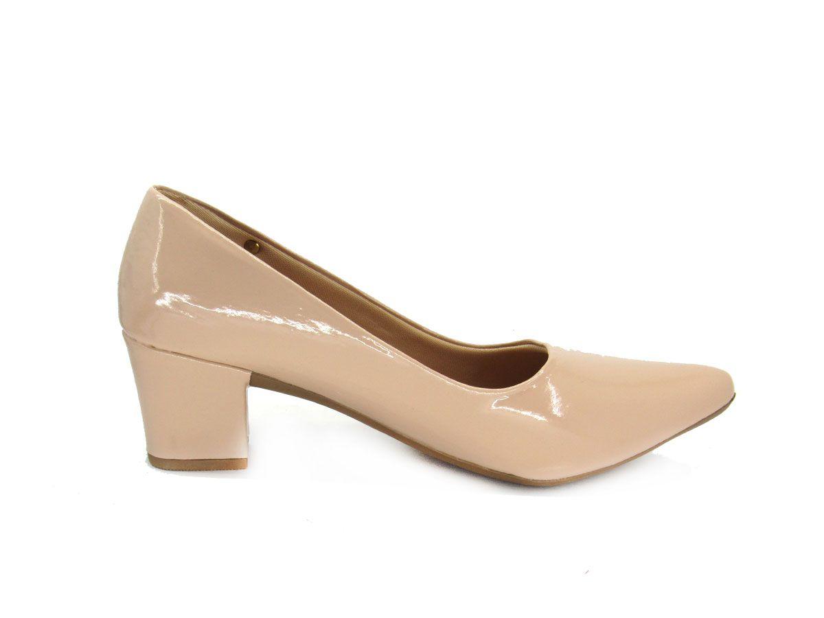 Sapato Scarpin Feminino Gottí 8212 Salto Grosso
