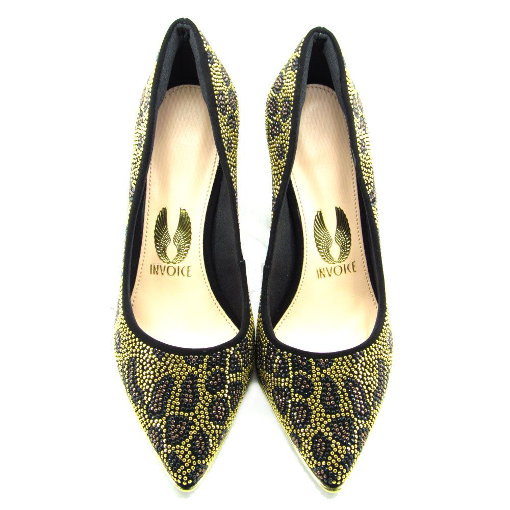 Sapato Scarpin Feminino Invoice 214002 Salto Médio