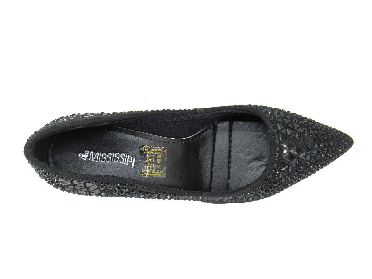 Sapato Scarpin Feminino Mississipi Q2521 Salto Fino
