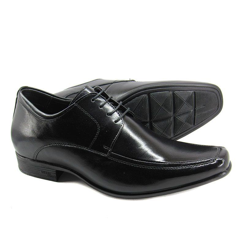Sapato Social Masculino com Salto Interno Jota Pe Grow Air King 71353 Preto