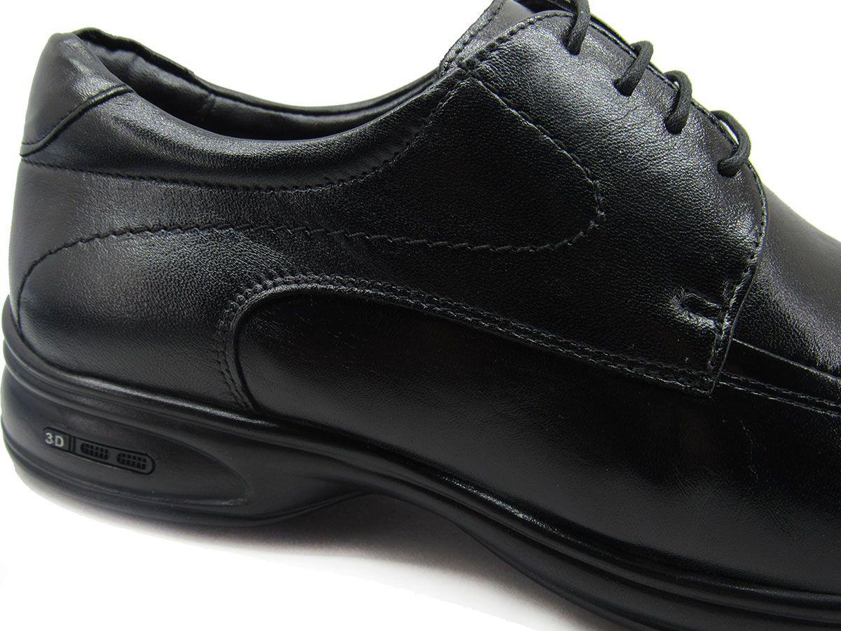 Sapato Social Masculino Jota Pe 3D Air Vision 71454 Preto