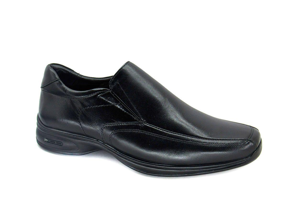 Sapato Social Masculino Jota Pe 3D Air Vision 71455 Preto