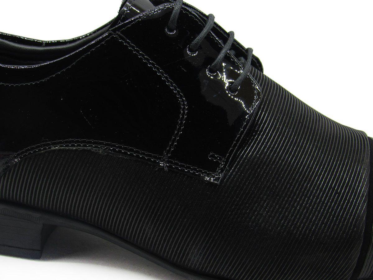 Sapato Social Masculino Jota Pe Air Fergus 73252 Verniz Preto