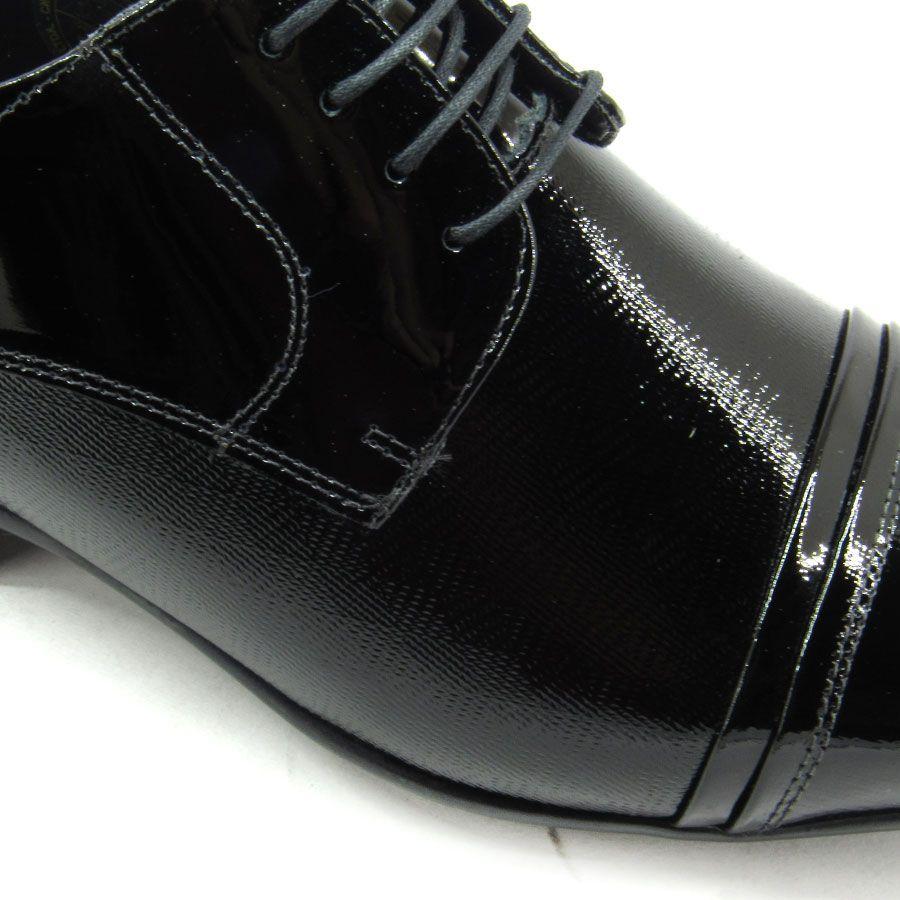 Sapato Social Masculino Jota Pe Air Fillipo 77700 Verniz Preto
