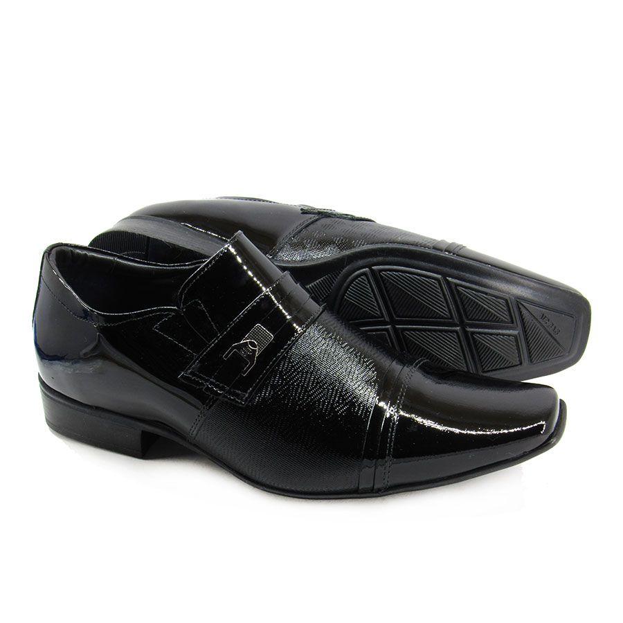 Sapato Social Masculino Jota Pe Air Fillipo 77701 Verniz Preto