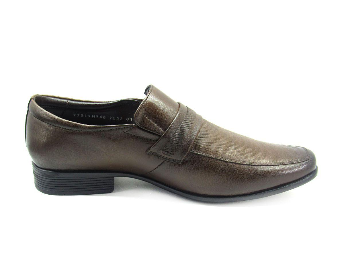 Sapato Social Masculino Jota Pe AIr Magic 77519 Couro Pelica