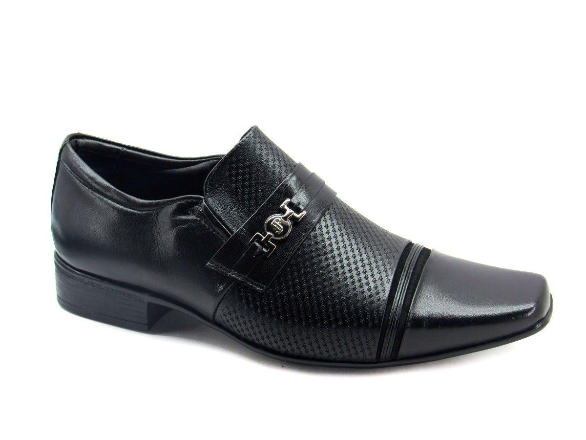 Sapato Social Masculino Jota Pe FlexFeet 32015  Preto