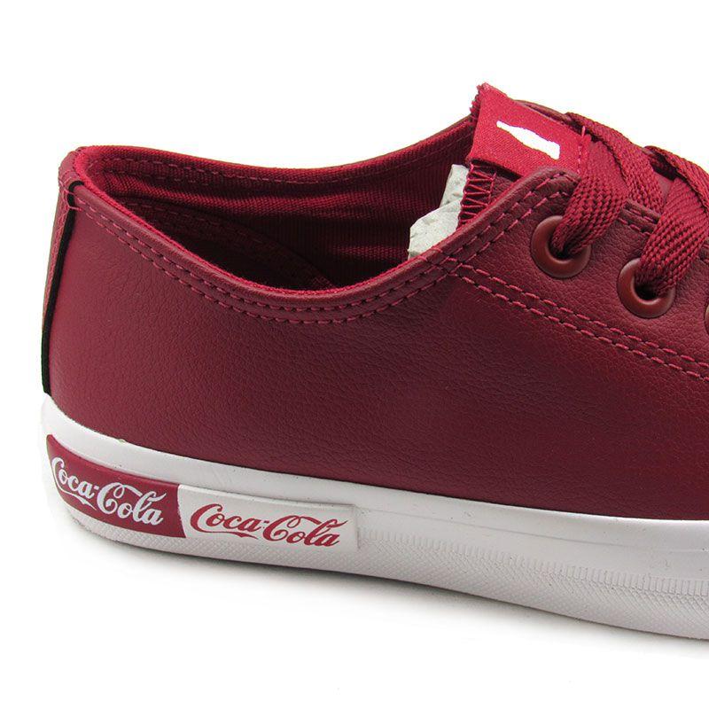 Tênis Casual Coca-Cola Basket Blend CC1688 Feminino - Vermelho