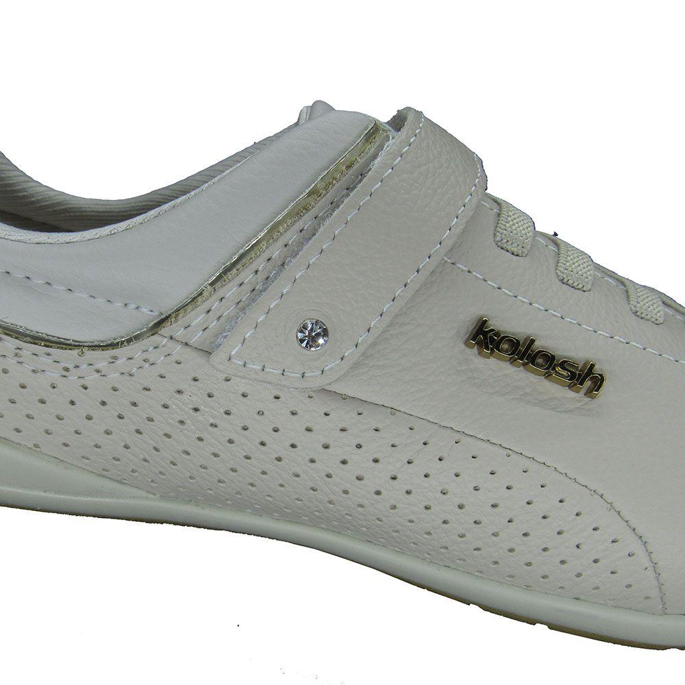 Tênis Casual Feminino Kolosh Sport Style C0153 Marfim