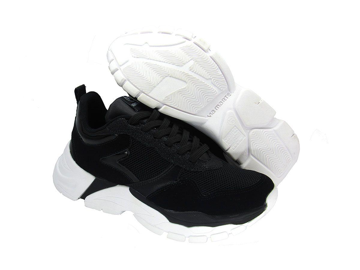 Tênis Feminino Dad Sneaker Via Marte 202301 Preto