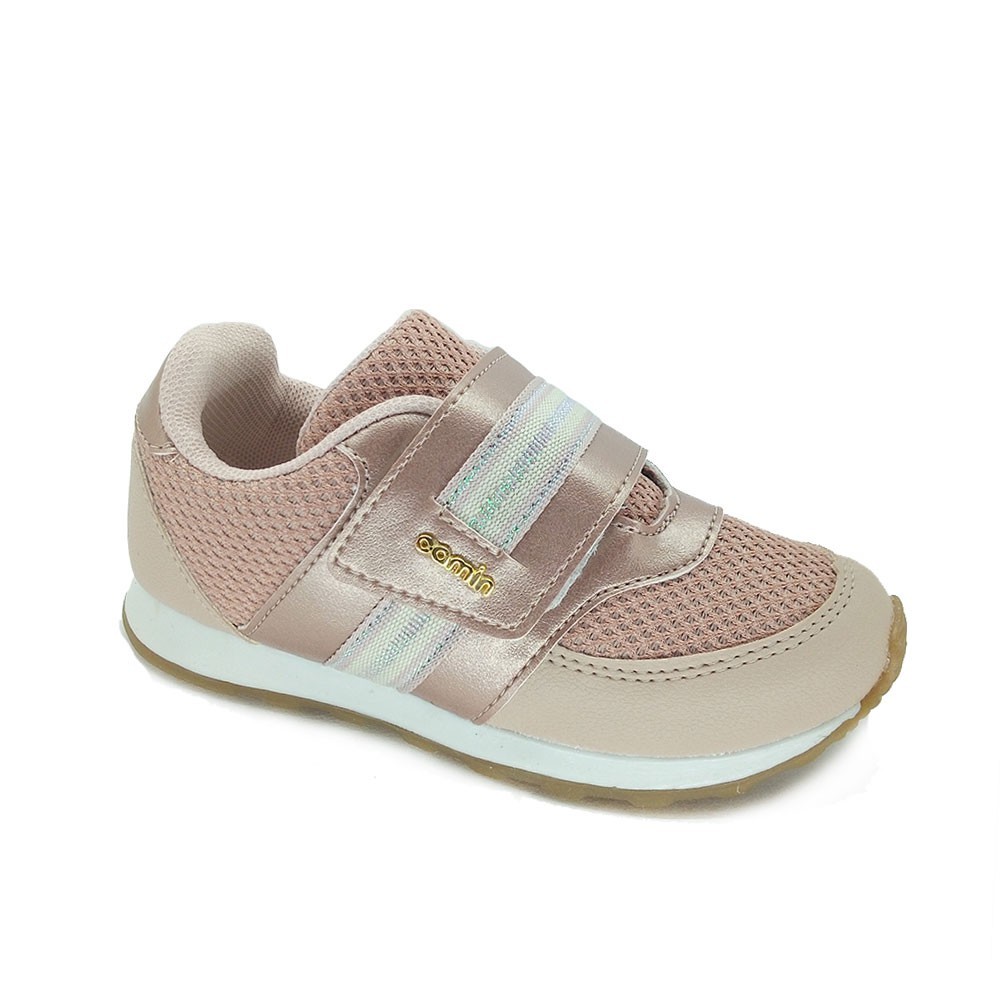 Tênis Infantil Feminino  Jogging Camin 2711 Estilo Conforto
