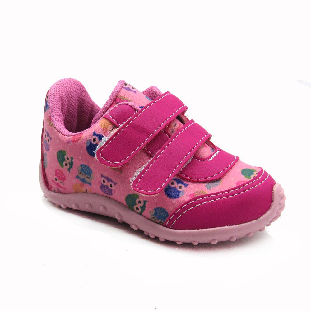 Tênis Jogging Infantil Feminino Blim Blim 117 - Rosa