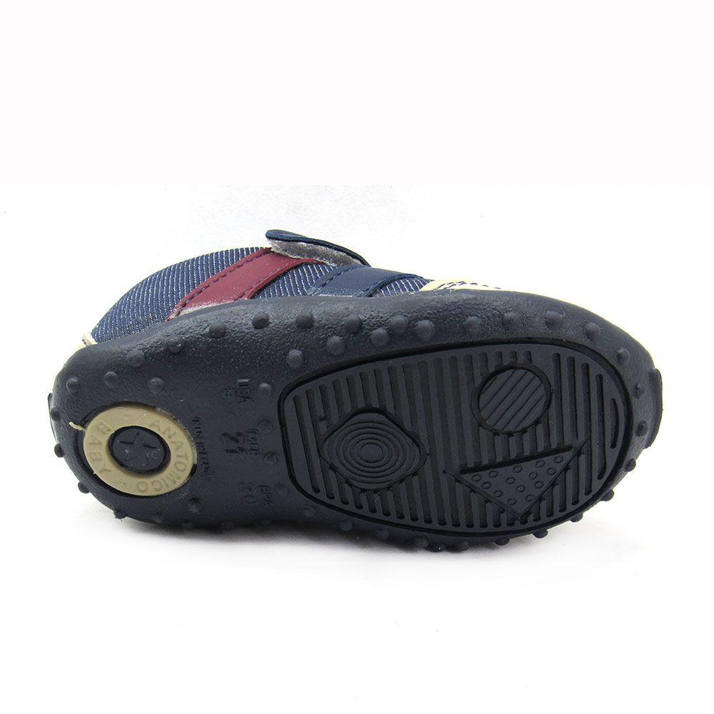 Tênis Jogging Infantil Meninos Blim Blim 240 Jeans  Velcro
