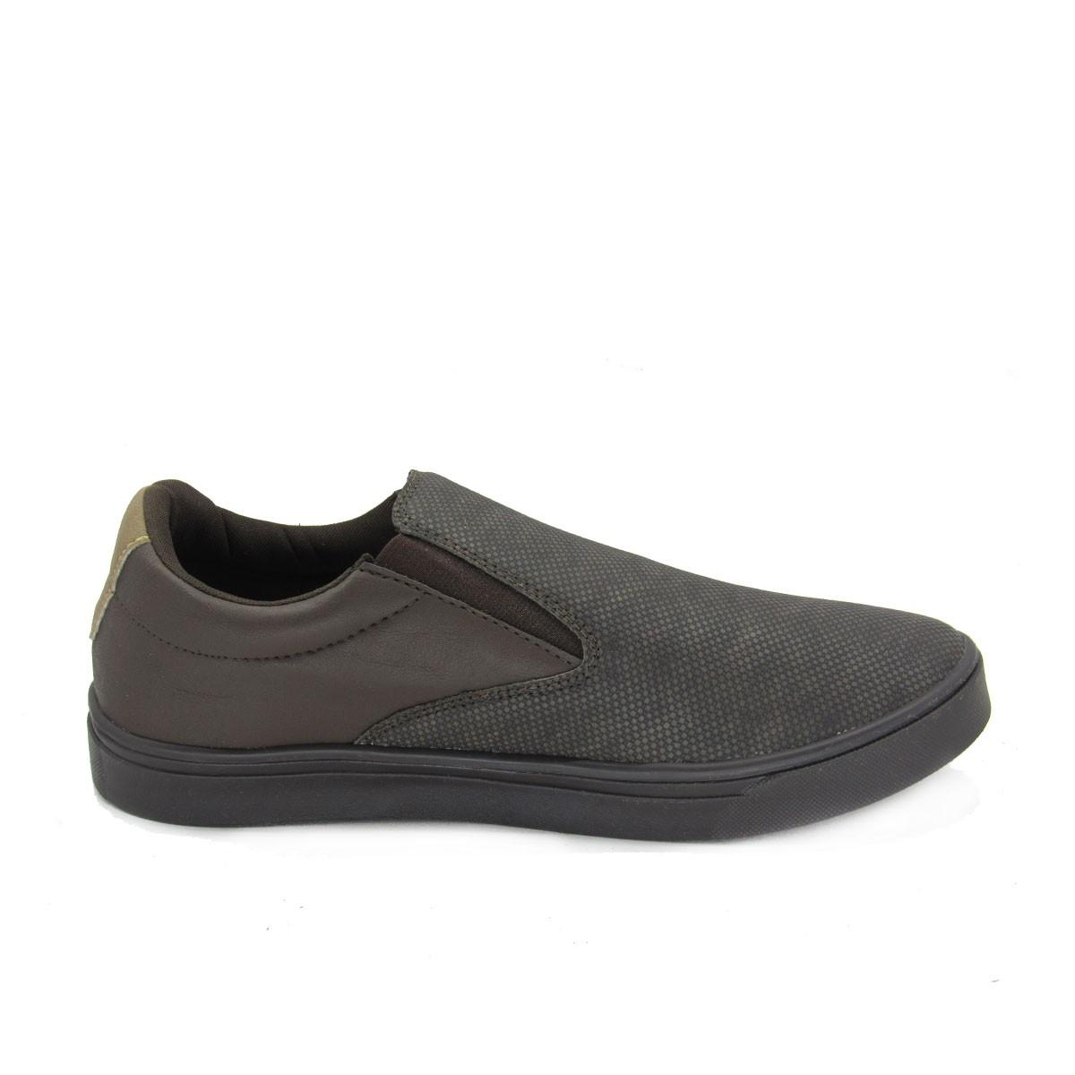 Tênis Masculino Slip Speel Shoes 5502 Café