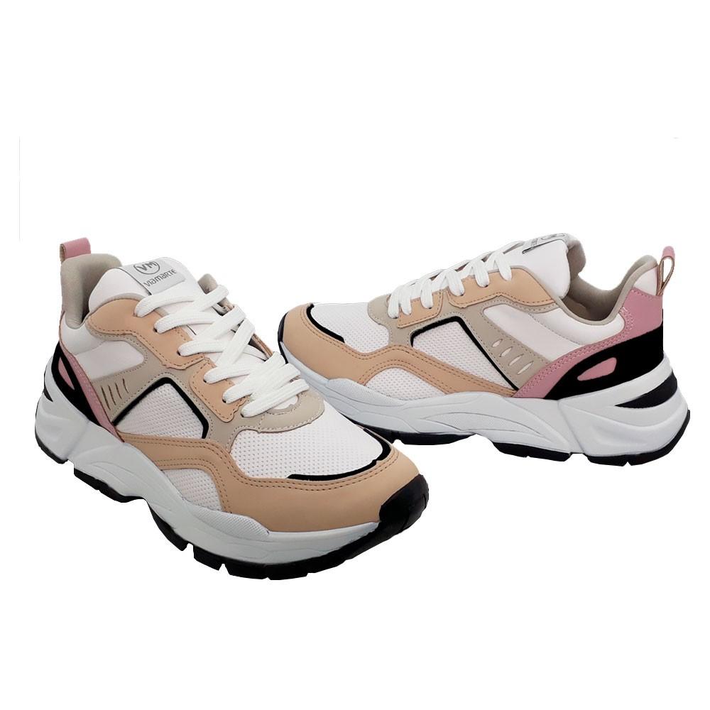 Tênis Sneaker Feminino Via Marte 2013502 Chuncky Multicolorido