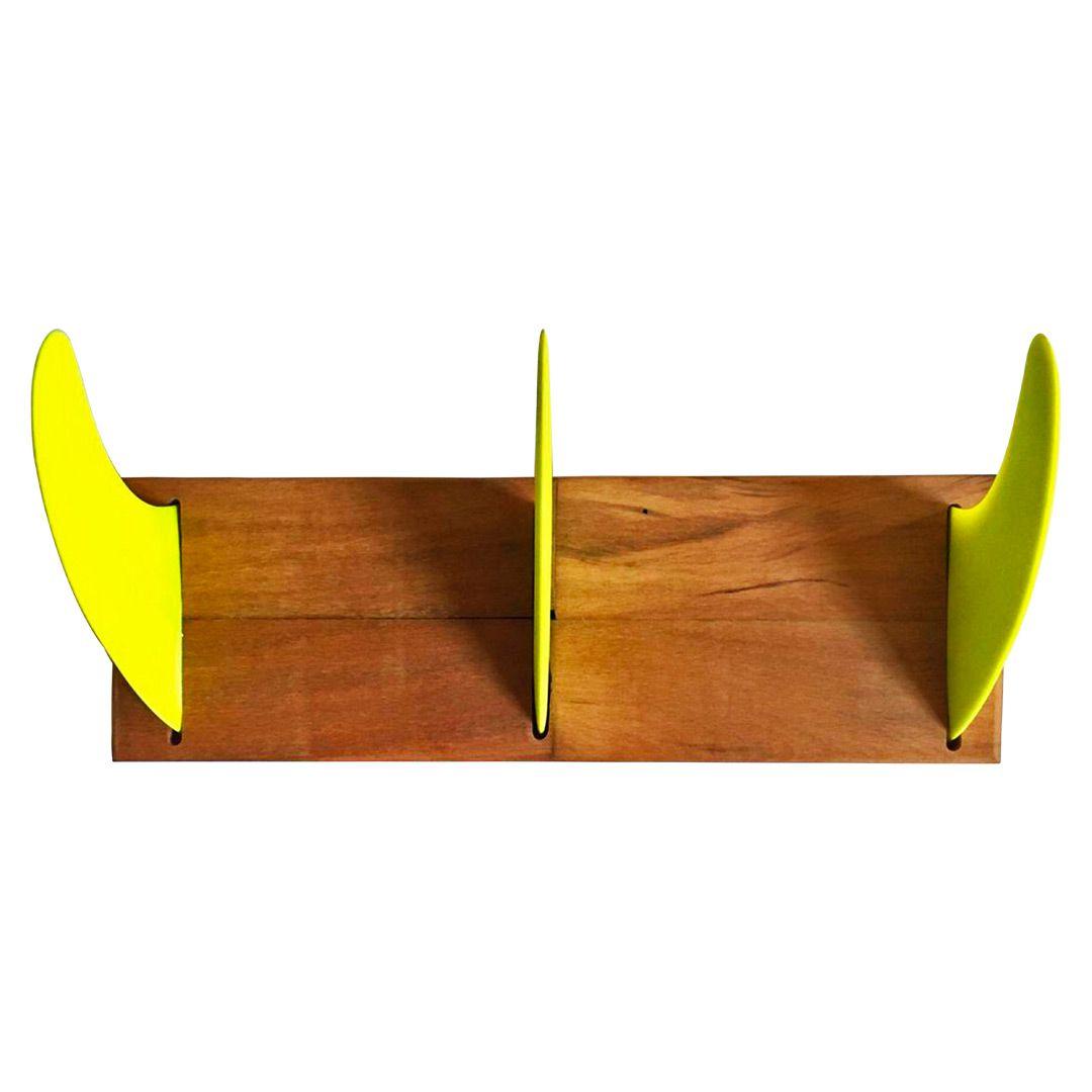 Cabideiro Quilha Triplo Amarelo