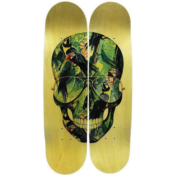 Quadro Tropical Skull