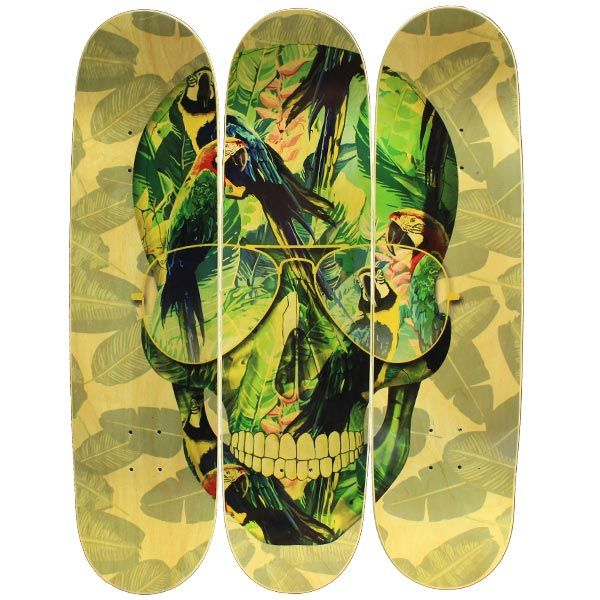 Quadro Tropical Skull II