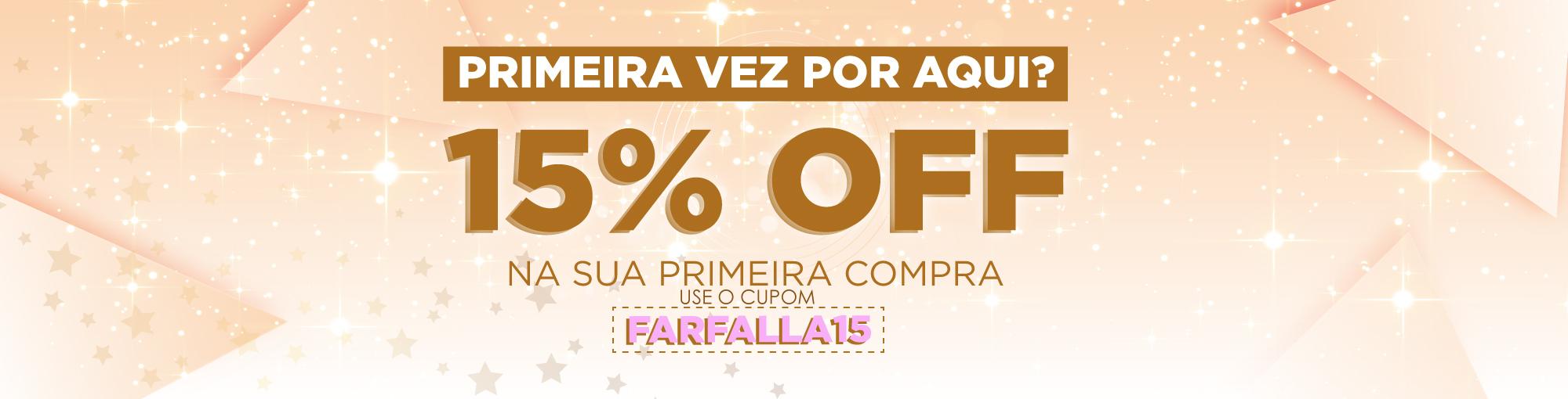 15% OFF PRA VOCÊ!!