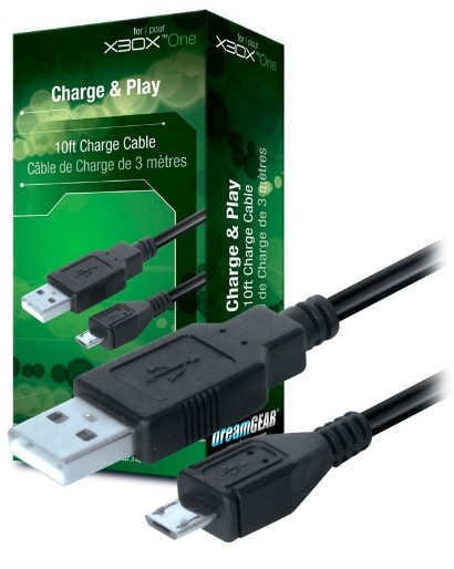 Cabo dreamgear charge cable 3m dgxb1-6607 - xbox one