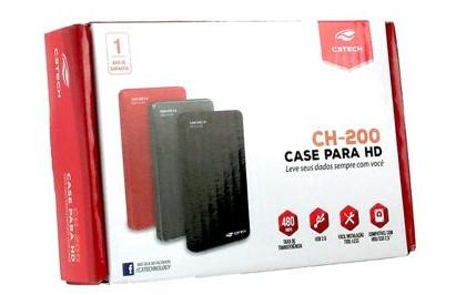 Case gaveta para HD CH-200 Cinza C3tech
