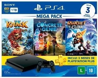 Console PS4 Mega Pack Family 2, 1TB, Knack 2 + Concrete Genie + Ratchet & Clank