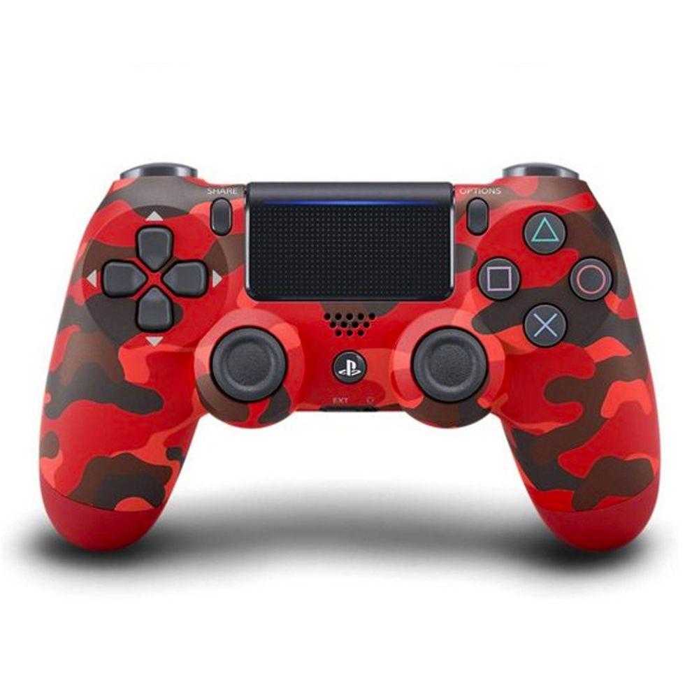 Controle Dualshock PS4 - Vermelho Camuflado
