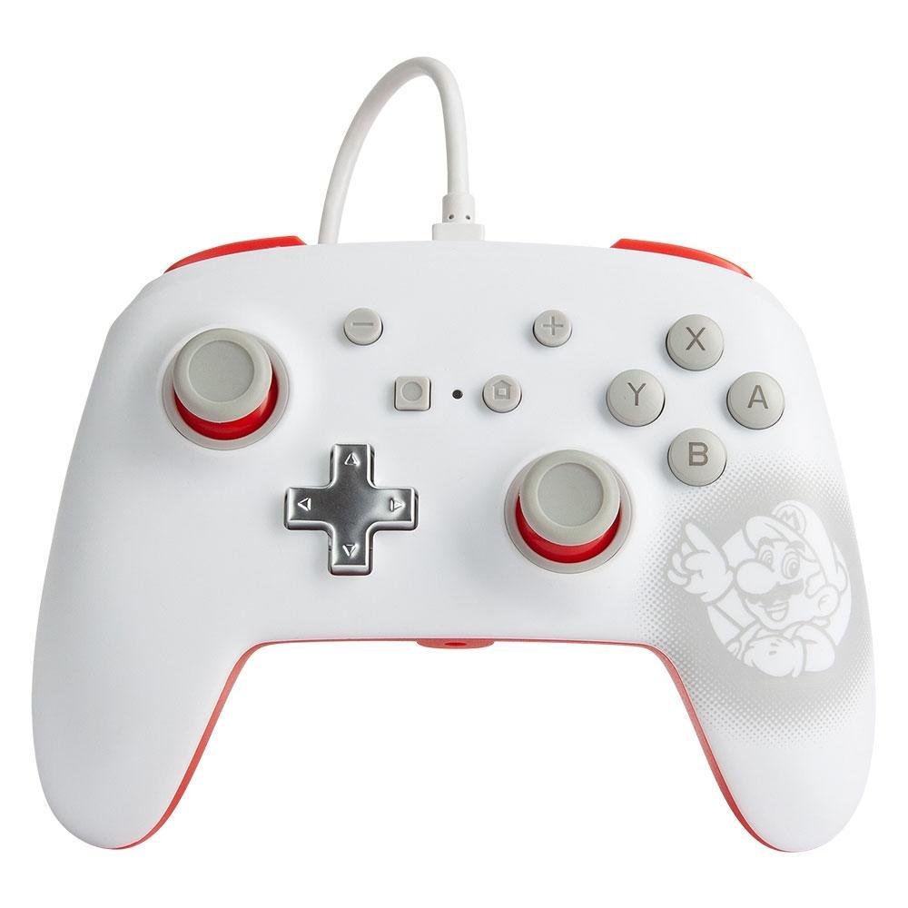 Controle PowerA para Nintendo Switch EnWired Controller Mario White
