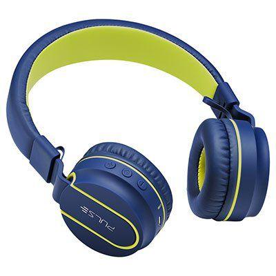 Fone Pulse ph218 c/Bluetooth azul/verde