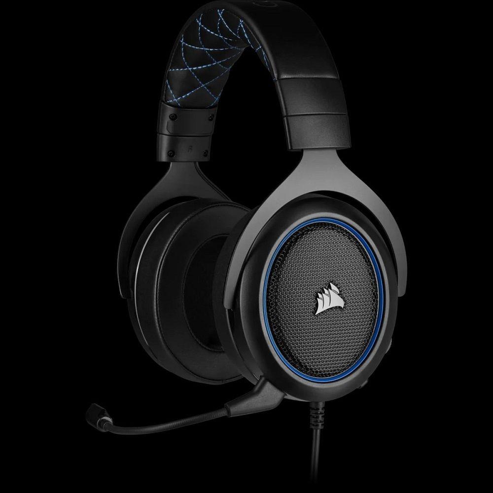 Headset corsair hs50 pro stereo CA-9011217-NA - azul - ps4/pc/mac/mobile