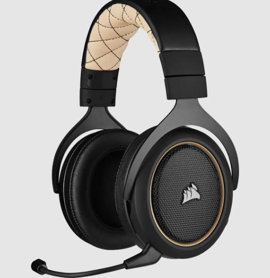 Headset corsair hs70 pro wireless 7.1 CA-9011210-NA - cream - pc/ps4