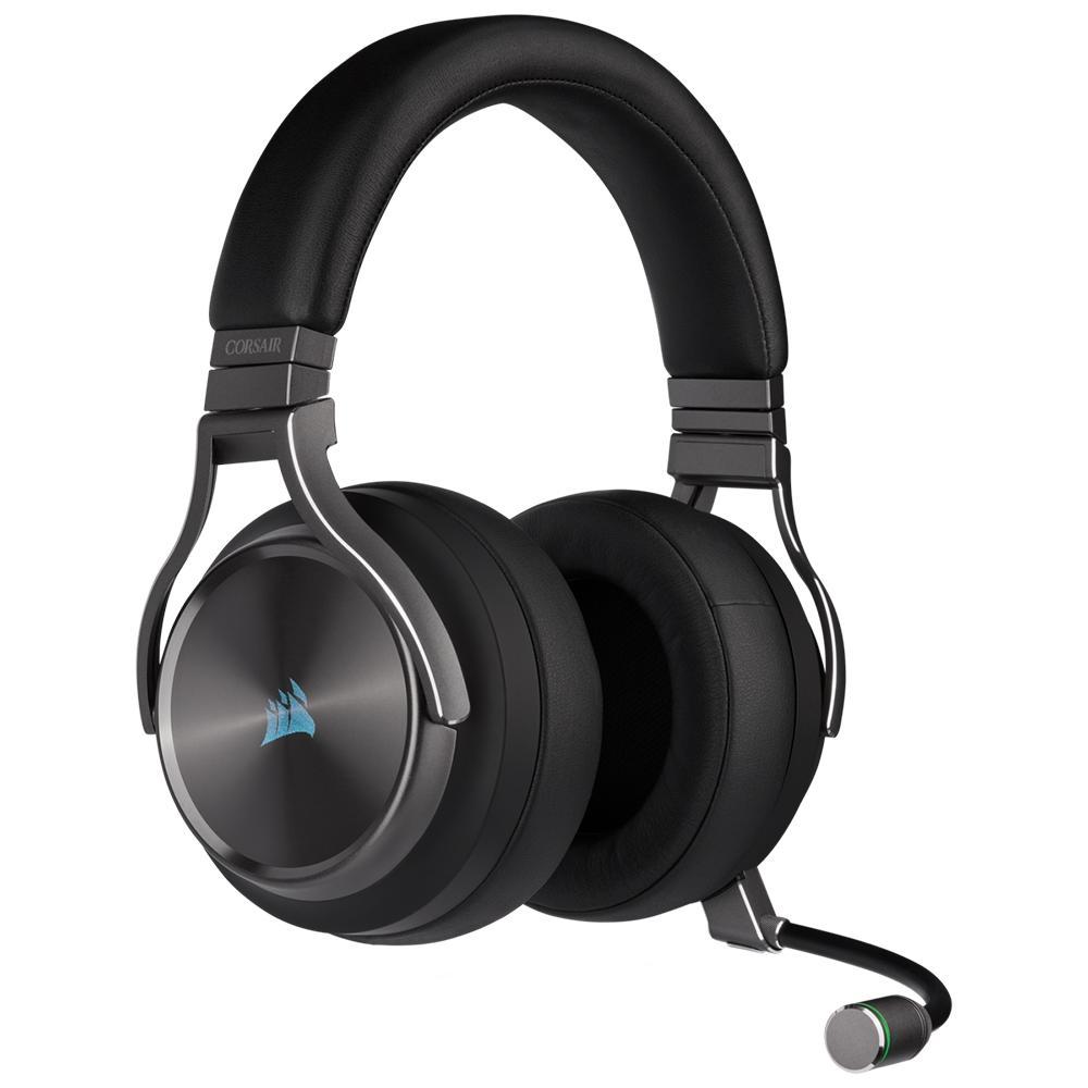 Headset corsair virtuoso rgb wireless CA-9011180-NA - gunmetal - pc/ps4