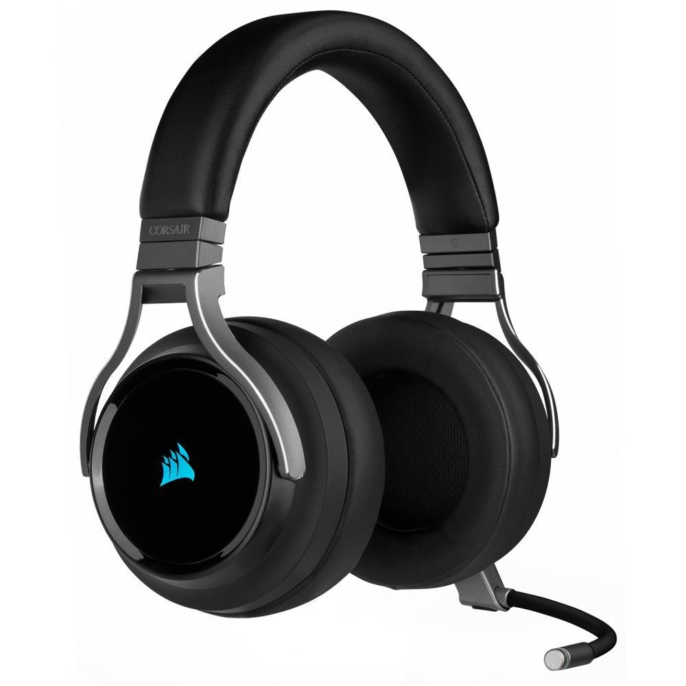 Headset corsair virtuoso rgb wireless CA-9011185-NA - carbon - pc/ps4