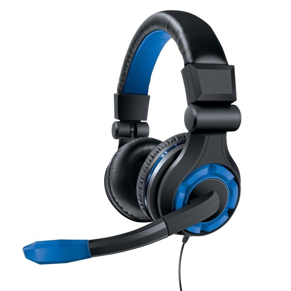 Headset gamer GRX 340 dreamgear PS4 preto/azul
