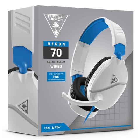 Headset Gamer Turtle Beach Recon 70P, Compatível com PS4 PS5 PC Xbox One Nintendo Switch e Mobile - Branco