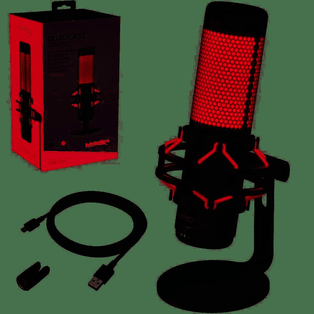 MICROFONE HYPERX GAMER QUADCAST