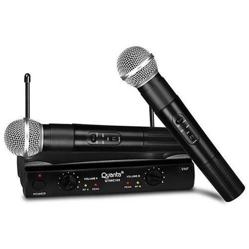 Microfone quanta sem fio qtmic102 2v bivolt