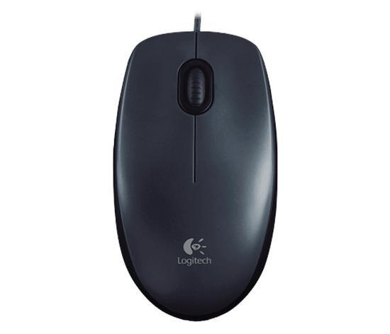 Mouse logitech c/ fio accsm100 usb preto