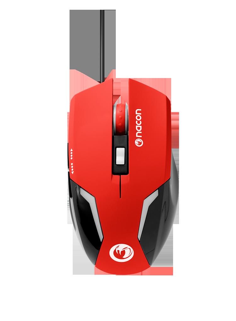 Mouse nacon gm 105 vermelho
