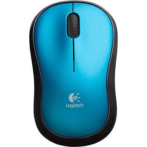 Mouse sem fio logitech m185 accsm185 azul