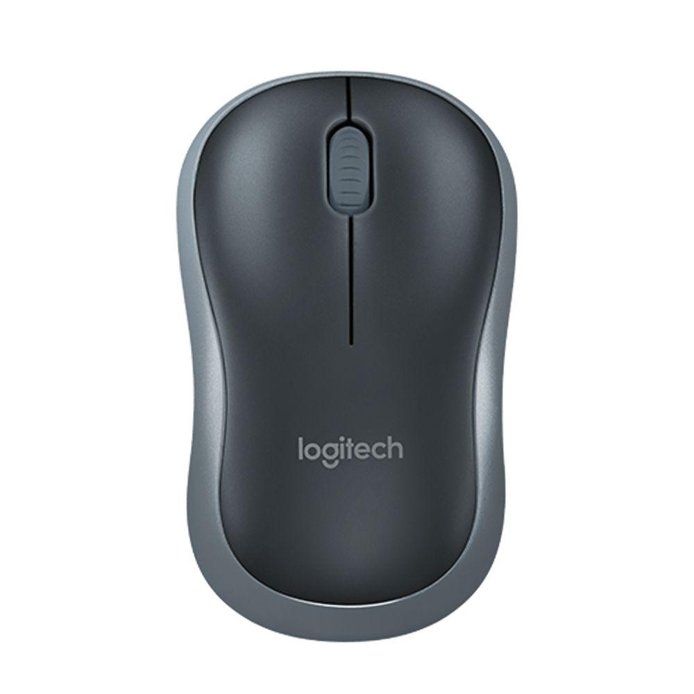 Mouse sem fio logitech m185 accsm185 cinza