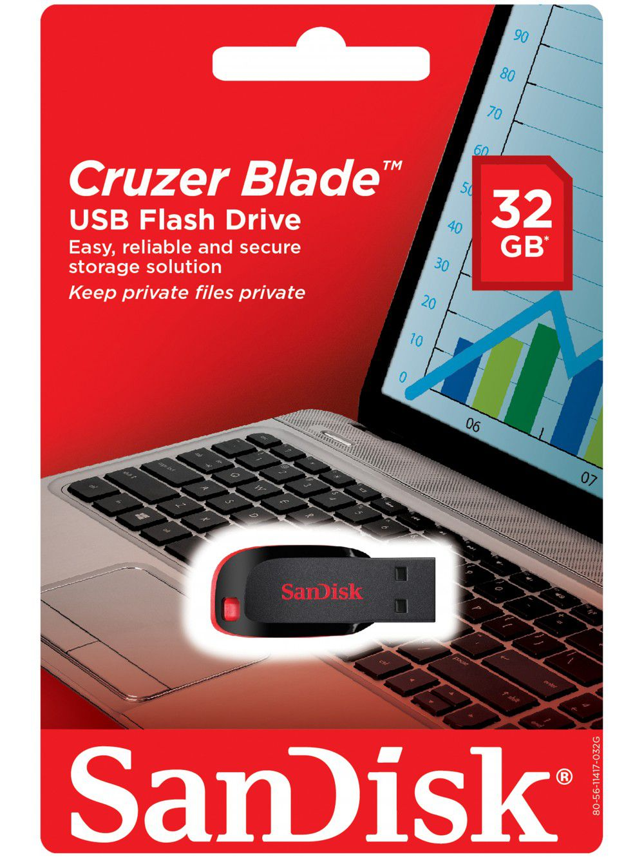 Pen drive 32gb sandisk 250 cruzer blade