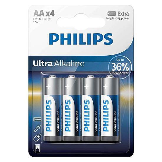 Pilha philips ultra alkalina lr6-e4b AA c/ 4