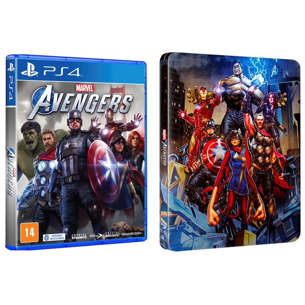 Marvel Avengers + Brinde Steelbook - PS4